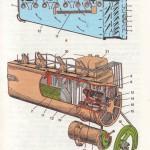 Схема повітряного охолодження дизеля